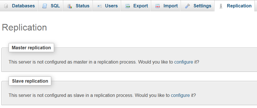 MySQL Replication Step 1