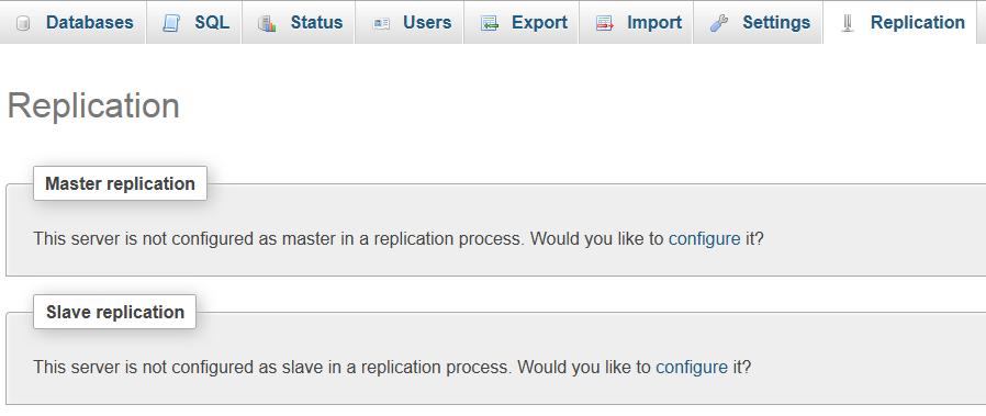 MySQL Replication Step 1