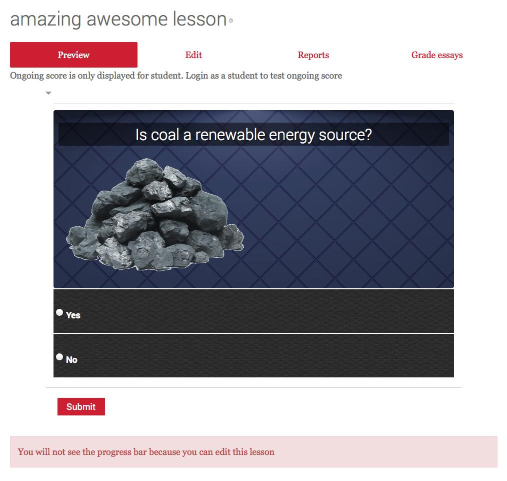 Lesson Question Slide